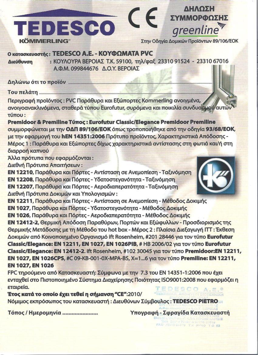 Δήλωση Συμμόρφωσης CE